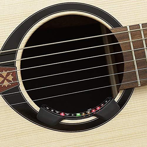 KORG Stimmgerät Rimpitch C2 RPC2, chromatischer Schalllochtuner für Akustikgitarren, gewölbtes Stimmgerät in Schalllochgröße, schwarz