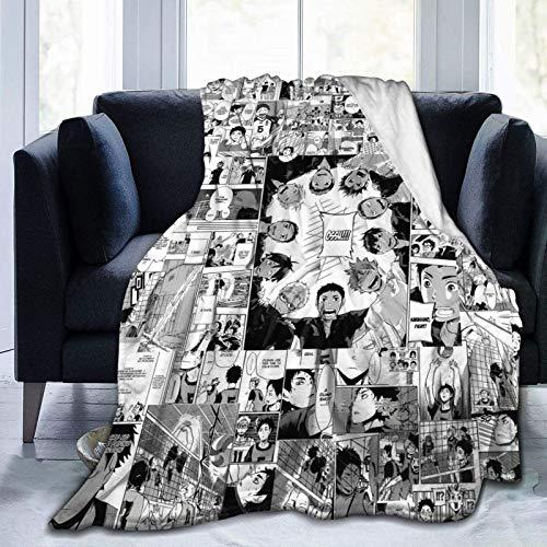 Manta de forro polar suave, Haikyuu!! Colchón de cama resistente a las arrugas, decoración exquisitas mantas de lana para sofá para todas las estaciones de mascotas de 200 x 60 pulgadas