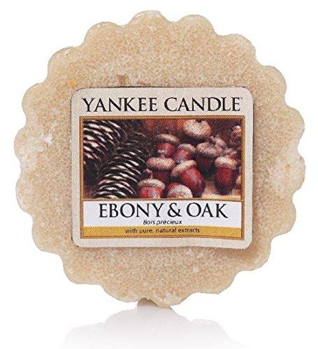 Yankee Candle 1519670E Ebenholz und Eiche Duftwachstörtchen zu schmelzen, wachs, braun, 5,7 x 5,7 x 2 cm