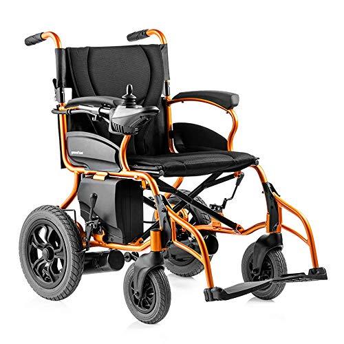FGVDJ Elektrischer Rollstuhl, Leichter zusammenklappbarer Elektrorollstuhl, automatischer elektrischer Rollstuhl mit Lithiumbatterie mit Elektroantrieb oder manueller Roll