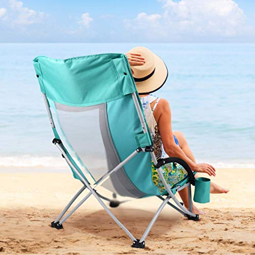CLISPEED Low Beach Camping Folding Chair,Low Sling...