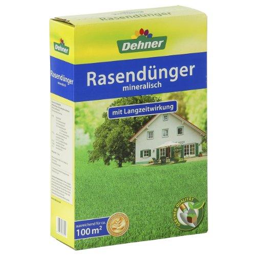 Dehner Rasendünger mit Langzeitwirkung, mineralisch, 2.5 kg, für ca. 100 qm