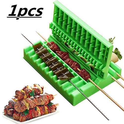 FWSS Easy Barbecue Kebab Maker, Schnellspieß Easy Barbecue Kebab Maker Fleischspießmaschine BBQ Grill Spieße 1 STÜCKE