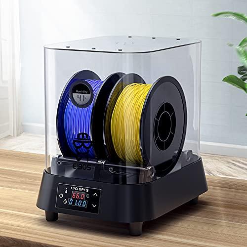 TOPQSC 3D Filament Trockenbox EIBOS 3D Filament Dörrgerät PTC-Heizung Halten Sie das Filament Während des 3D-Drucks Trocken Kompatibel Mit 1,75mm/2,85mm/3mm Filament (Keine Trockene Seide)