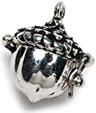 Darice BG2031 Acorn Shaped Prayer Box Charm, Antique Silver