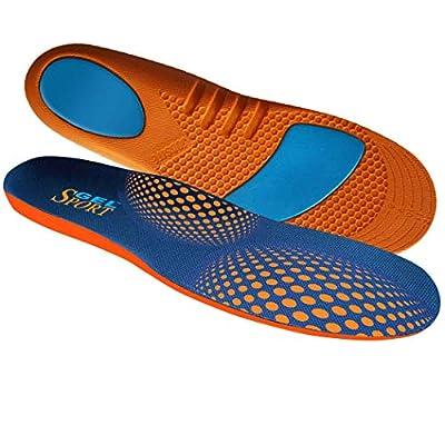 JobSite Gel Sport Insoles - Gel Heel & Metatarsal Shock Help Prevent Everyday Foot Pain, Heel Pain, Metatarsal Pain & Plantar Fasciitis