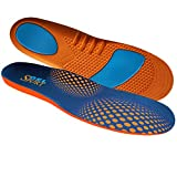JobSite Gel Sport Insoles - Gel Heel & Metatarsal Shock Pad - US Men 8-13 (Trim to Fit)