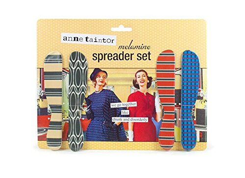 Anne Taintor Cheese Butter Spreader Set - We Go Together Like Drunk And Disorderly