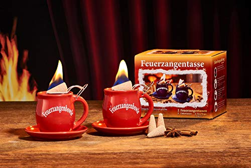 Feuerzangentasse 2er-Set, Rot - für Feuerzangenbowle