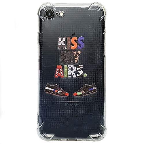 TopWrack x ShotsbyB2 - Custom Hypebeast Sneaker Flexible Plastic Protective Case/Cover/Skin/Bumper for iPhone (Kiss My Airs, iPhone Xs Max)