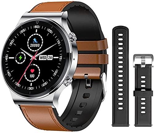 Nueva llamada Bluetooth reloj inteligente hombres S-600 IP68 impermeable pantalla táctil completa deportes fitness smartwatch cara personalizada para Android IOS-E