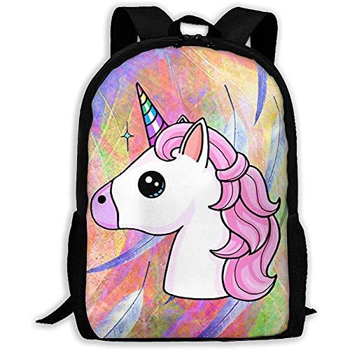 Casual School Bag Beautiful Pink Mecedora Unicornios Arte Mochila Mujeres Imprimir 3D Mochilas para...