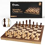 Chess Armory 15' Wooden Chess Set with Felted...