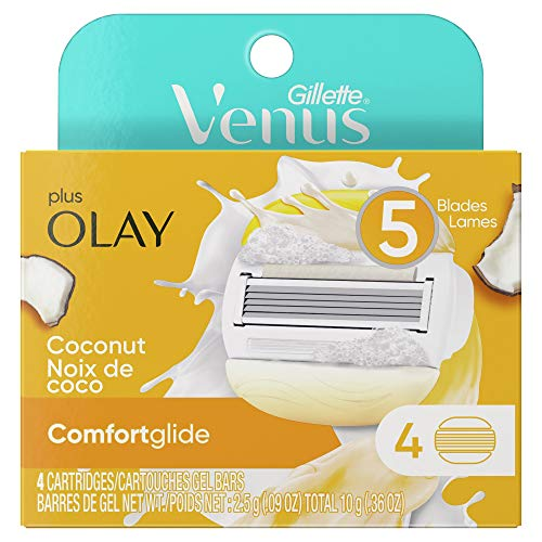 Gillette Venus ComfortGlide with Olay Women's Razor Blades - 4 Refills