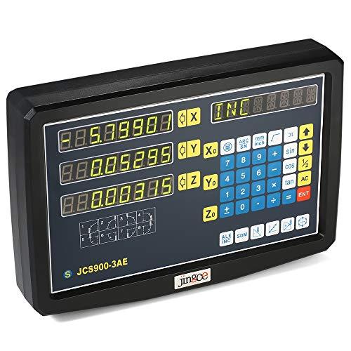 Fesjoy Digitalanzeige DRO, Digitalanzeige Meter 3-Achsen-Gitter CNC-Fräsen Digitalanzeige Elektronische Linearwaage Drehmaschine Digitalanzeige 85-265V