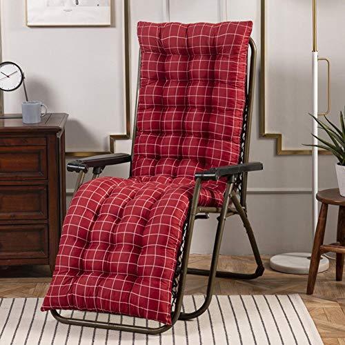 Sun Lounger Cushion Replacement , Garden Furniture Thick Pad , Portable Chaise Lounge Cushion Patio Chair Cushions Outdoor Mattress Garden Sun Lounger Recliner Indoor Veranda -125x48x8cm,Only Cushions