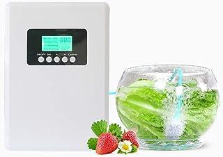 ZYCWBW Ozonizador Doméstico Digital Generador De Ozono Ionizador Purificador Aire Agua, Temporizador Digital Portátil Máquina Desintoxicación para Verduras, Fruta
