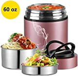 2020 Upgraded Insulated Food Storage Container Thermos, KKD Food Jar Stainless Steel Vacuum Soup Lunch Flask,...
