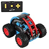 OCDAY Ferngesteuertes Auto Spielzeugauto für Kleinkinder Polizeiauto ab 2 Jahren mit Lichtern und Sound, Geschenk für Jungen Mädchen Kinder (Blua4)