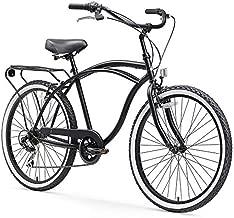 sixthreezero Around The Block Men's 7-Speed Beach Cruiser Bicycle, 24
