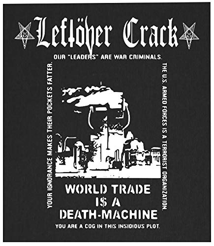 Leftover Crack Back Patch - Crust Punk Citizen Fish Choking Victim Anarcho F-Minus No Cash Anti-Flag Subhumans The Infested Screeching Weasel Operation Ivy