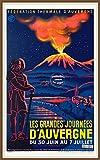 PostersAndCo TM Auvergne Poster / Kunstdruck, 40 x 60 cm,