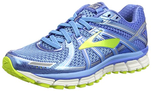 Brooks Adrenaline GTS 17, Scarpe da Corsa Donna, Blu (Azure Palace Blue/Lime Punch), 38 EU