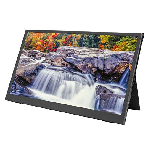 SONK Monitor portátil, resolución 2K Pantalla de computadora de 15.6 Pulgadas Compatible con Huawei/para Samsung con una Funda de Cuero, Pantalla de Juego en la Misma Pantalla con Interfaz Tipo C