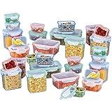 GOURMETmaxx Frischhaltedosen klick-It 30 Dosen Luftdichte Aufbewahrungsboxen, Geeignet für Mikrowelle, Gefrierschrank und Spülmaschine, Kunststoff-Bpa Frei,