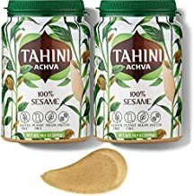 Stone-Ground Tahini Paste for Hummus – 100% Sesame Paste for Cooking and Baking is Kosher Parve and Contains No Gluten, Nuts, Dairy, GMOs, Additives, or Preservatives by Achva, 14.1 oz., Pack of 2