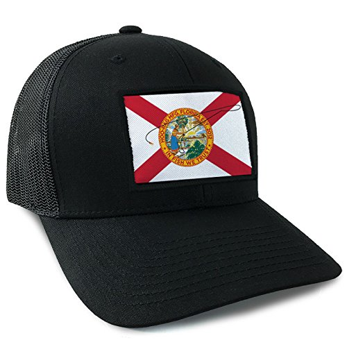 44ed6abb467 Amazon.com  Hoo-Rag Florida State Flag Trucker Style Snapback by ...