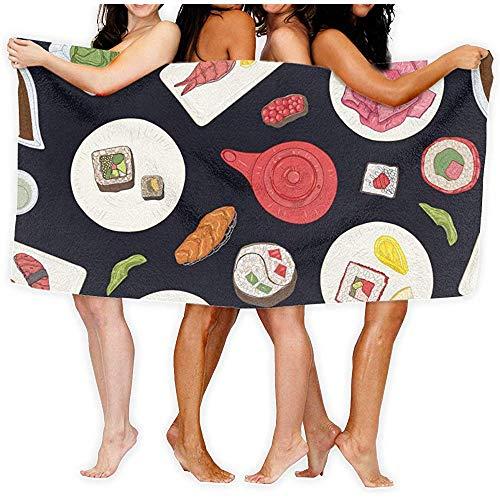 classement un comparer chillChur-DD Sushi Sashimi Serviette de bain et serviette en rouleau, salle de bain, maison, entreprise, douche,…
