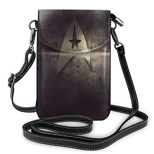 Star Trek Phone Purse Bolsos Cruzados para Mujer Bolsos livianos Monedero para Mujer Cuero Funda para teléfono móvil Estuche para Billetera Bolsos de Hombro Correa de Hombro extraíble Fashion-7MG