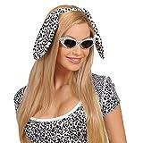 NET TOYS Dalmatiner-Haarreif mit Schlapp-Ohren - Schwarz-Weiß - Süßes Party-Kostüm-Zubehör Tierohren Hund - EIN Blickfang für Fasching & Karneval