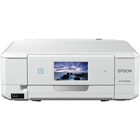 旧モデル エプソン プリンター インクジェット複合機 カラリオ EP-808AW ホワイト