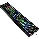 VEVOR Letrero de Desplazamiento LED 101 x 20 x 5cm Letrero LED Rectangular LED Desplazamiento Publicitario 7 Colores para Publicidad y Negocios