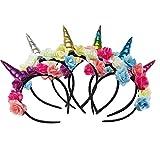 THEE Einhorn Haarband Kinder Haarreif Mehrfarbige Haarschmuck für Mädchen Geburtstag Party...