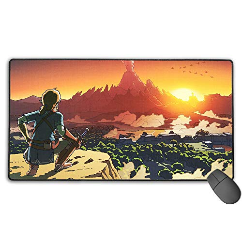 The Legend of Zelda Breath of The Wild Large Gaming Mouse Pad Waterproof Non-Slip Rubber for Pc Computer Laptop 11.8X31.5 in(30Cm X 80Cm)