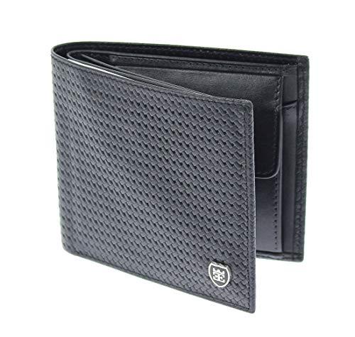 EMIRUS® Geldbeutel Herren Echt Leder |STRUTTURA| TÜV geprüft | RFID NFC Schutz | Geldbörse 11 Kartenfächer dünn Münzfach (Schwarz)