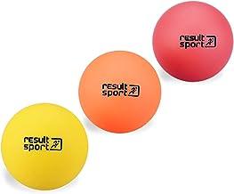 ResultSport - Bolas de masaje, 3 unidades, (suave, medio y firme), funciona como masaje de puntos, reflexología de estrés, bola miofascial, bola de ejercicio, bola para Lacrosse