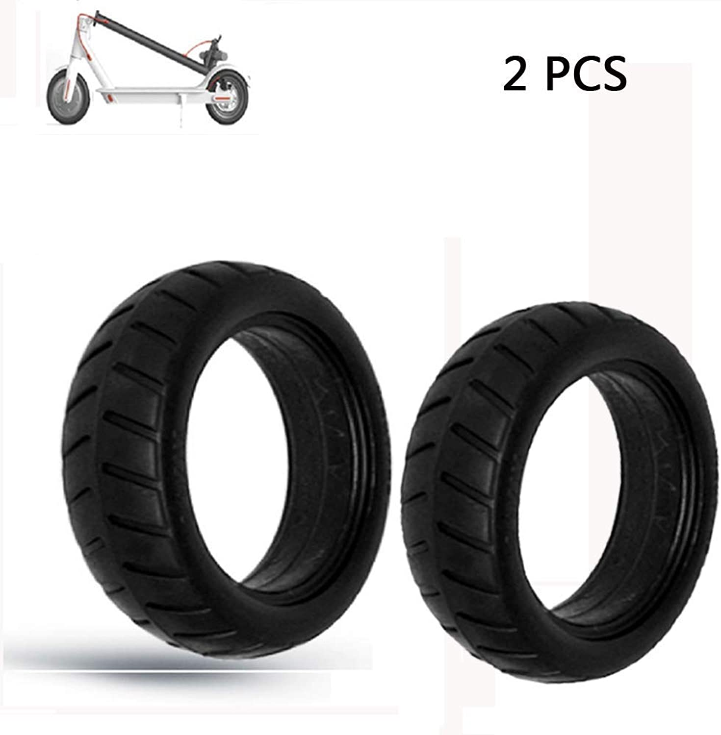 Yifant 8 1 2x 2 Pack of 2pcs Solid Tires for Xiaomi M365 Electric Scooter Replacement Wheels Outer Tubes