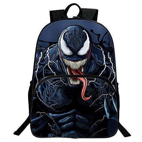 Venom Mochila Casual Mochila Impresa Mochila Escolar Mochila Informal Bolsa de Viaje Personalizar Mochila (Color : A05, Size : 30 X 16 X 40cm)