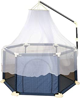 LNDDP Baby Playpen with Mosquito Net Anti-Rollover Anti-Mosquito Anti-Collision Infant Play Yard Activity Center Safety Toddler Fence (Size : 150×66.5cm)