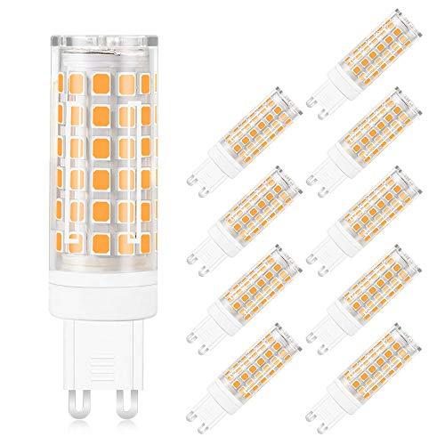 MENGS 10-er Pack Flimmerfrei G9 12W = 95W LED Licht Keramik + PC Warmweiß 76X2835 SMD AC 220-240V