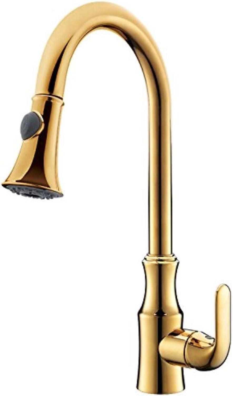 Basin Taps Swivel Spout Faucet Taps Faucet gold Copper Kitchen Sink Hot and Cold Water Faucet Pull Basin Faucet