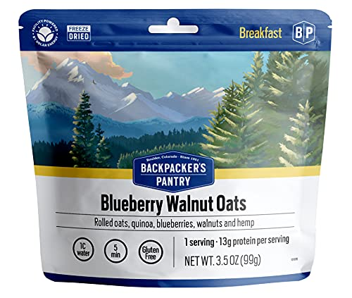 Backpacker's Pantry Organic Hot Blueberry Walnut Oat & Quinoa, 1 Serving Per Pouch (6 Count)