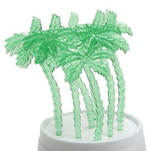 Price comparison product image Fun Express Luau Plastic Palm Tree Picks (Pack of 72)