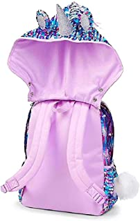 Justice Unicorn Flip Sequin Hooded Backpack