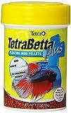 TetraBetta PLUS Floating Mini Pellets, Fish Food With Natural Color Enhancer