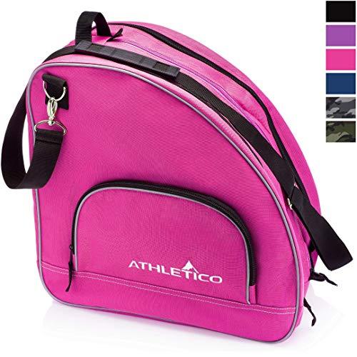 Athletico Schlittschuhtasche, hochwertige Tasche zum Tragen von Schlittschuhen, Rollschuhen, Inlineskates, für Kinder und Erwachsene, ., rose